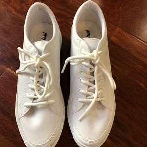 Nasty Gal white platform sneakers size 40 NEW